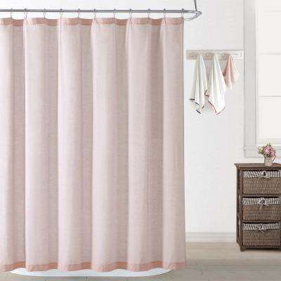 Chambray Coast Blush Shower Curtain