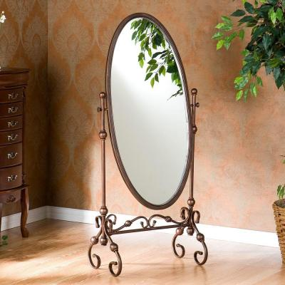 Large Bronze Metal Bohemian Classic Cottage Farmhouse Mirror (56.75 in. H X 24.0 in. W)