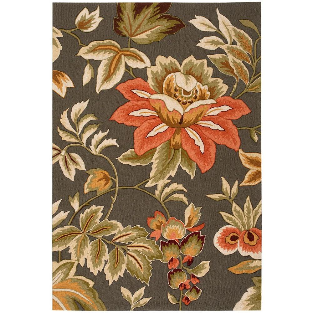 Nourison French Country Grey 5 Ft X 8 Area Rug