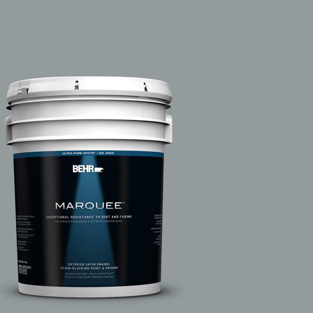 BEHR MARQUEE 5-gal. #720F-4 Stone Fence Satin Enamel Exterior Paint