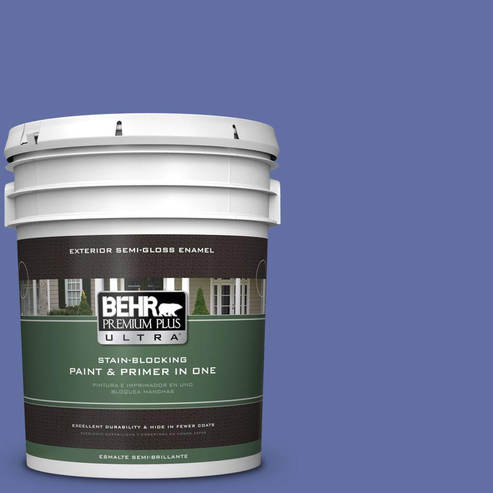 BEHR Premium Plus Ultra 5-gal. #610B-6 Stained Glass Semi-Gloss Enamel Exterior Paint