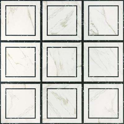 Developed by Nature Calacatta Deco 24 in. x 24 in. Glazed Porcelain Floor and Wall Tile (15.76 sq. ft. / case)