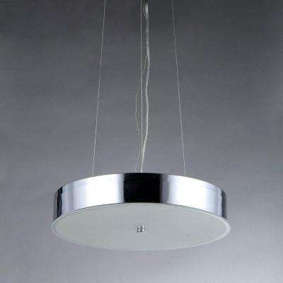Moon 3-Light Chrome Chandelier with Shade