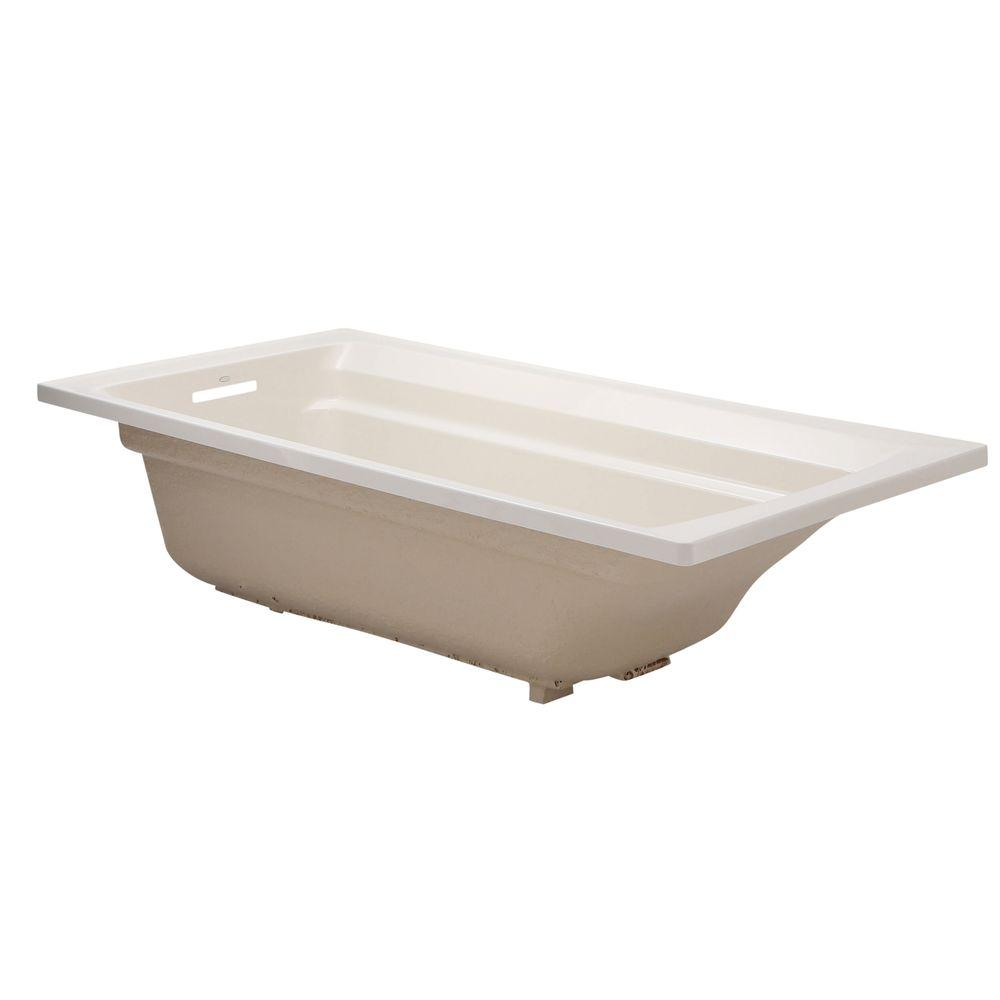 Archer 6 ft. Reversible Drain Acrylic Soaking Tub in Biscuit
