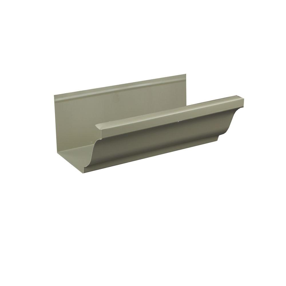 5 in. x 8 ft. K-Style Clay Aluminum Gutter