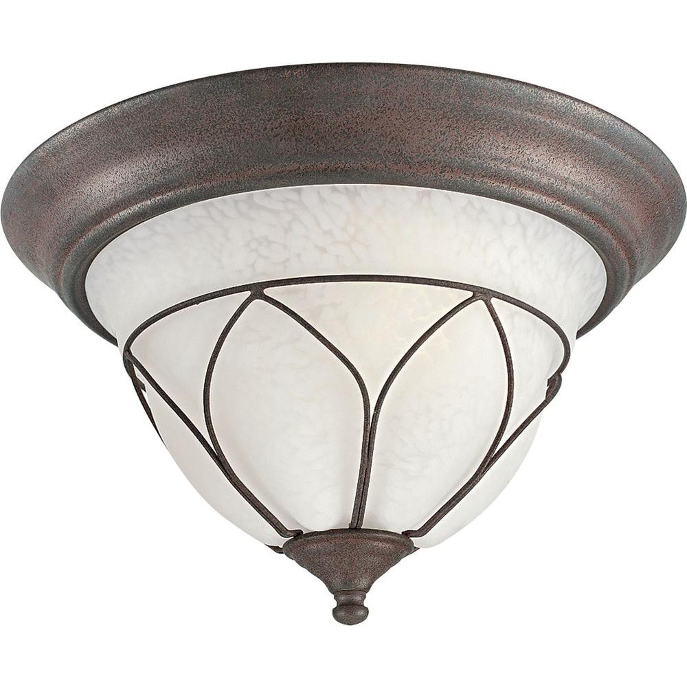 Progress Lighting Verona Collection Cobblestone 2-light Flushmount-DISCONTINUED