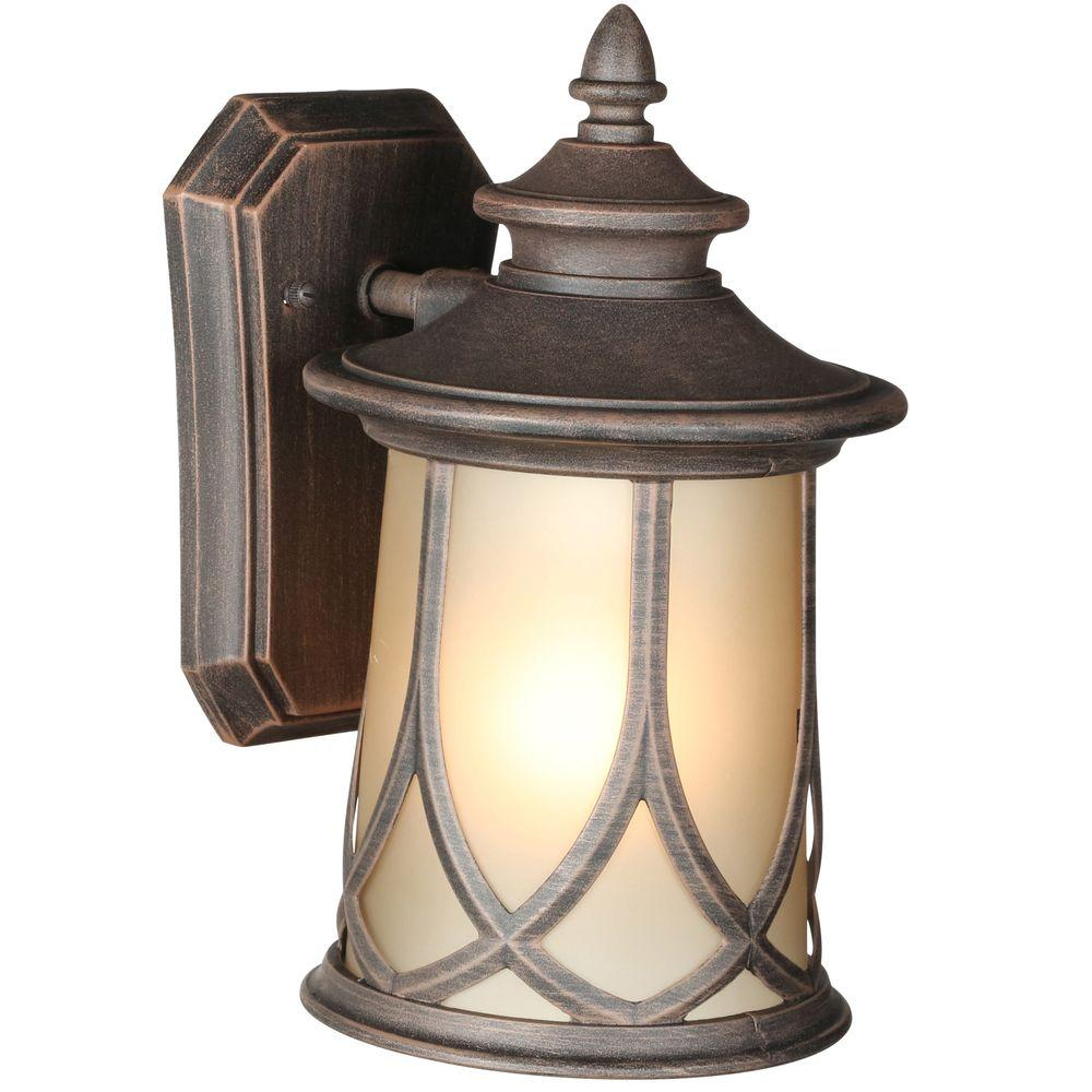 Progress Lighting Resort Collection 1 Light 65 Inch Aged Copper Outdoor Wall Lantern
