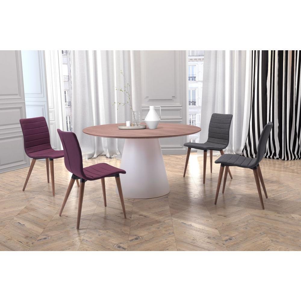 Zuo jericho purple polyblend dining chair set of 2