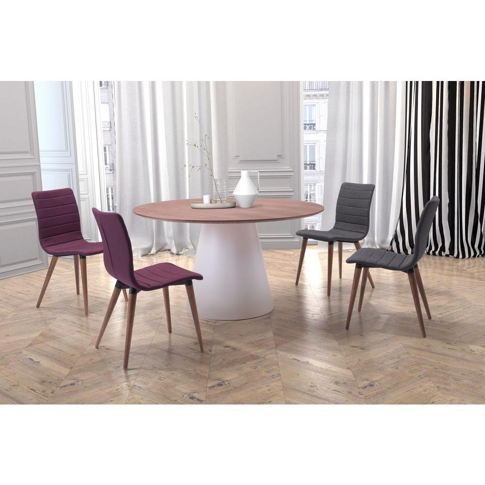 ZUO Query White And Walnut Dining Table