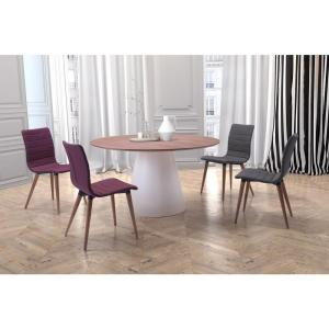 Query White And Walnut Dining Table