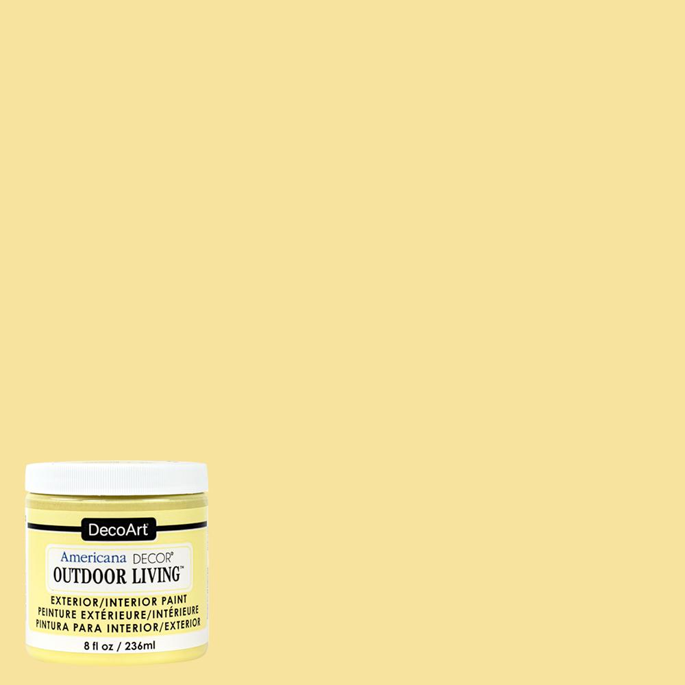Outdoor Living 8 oz. Lemonade Acrylic Paint