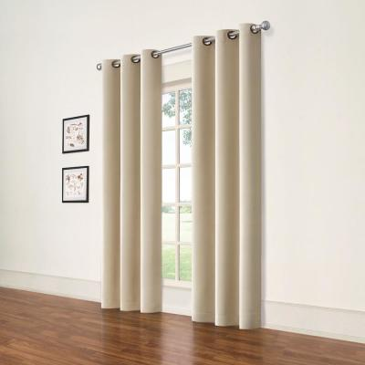 Darrell Natural Blackout Window Panel - 37 in. W x 84 in. L (2-Pack)