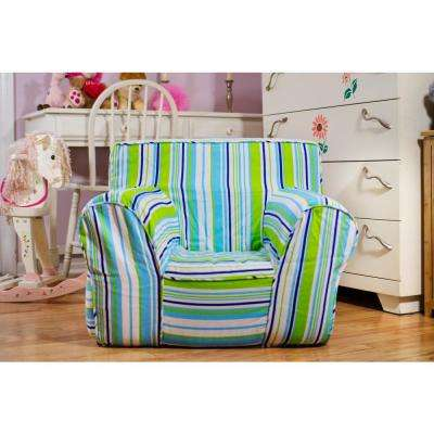 Oversize Kids Foam Chair with Summer Stripe Cover
