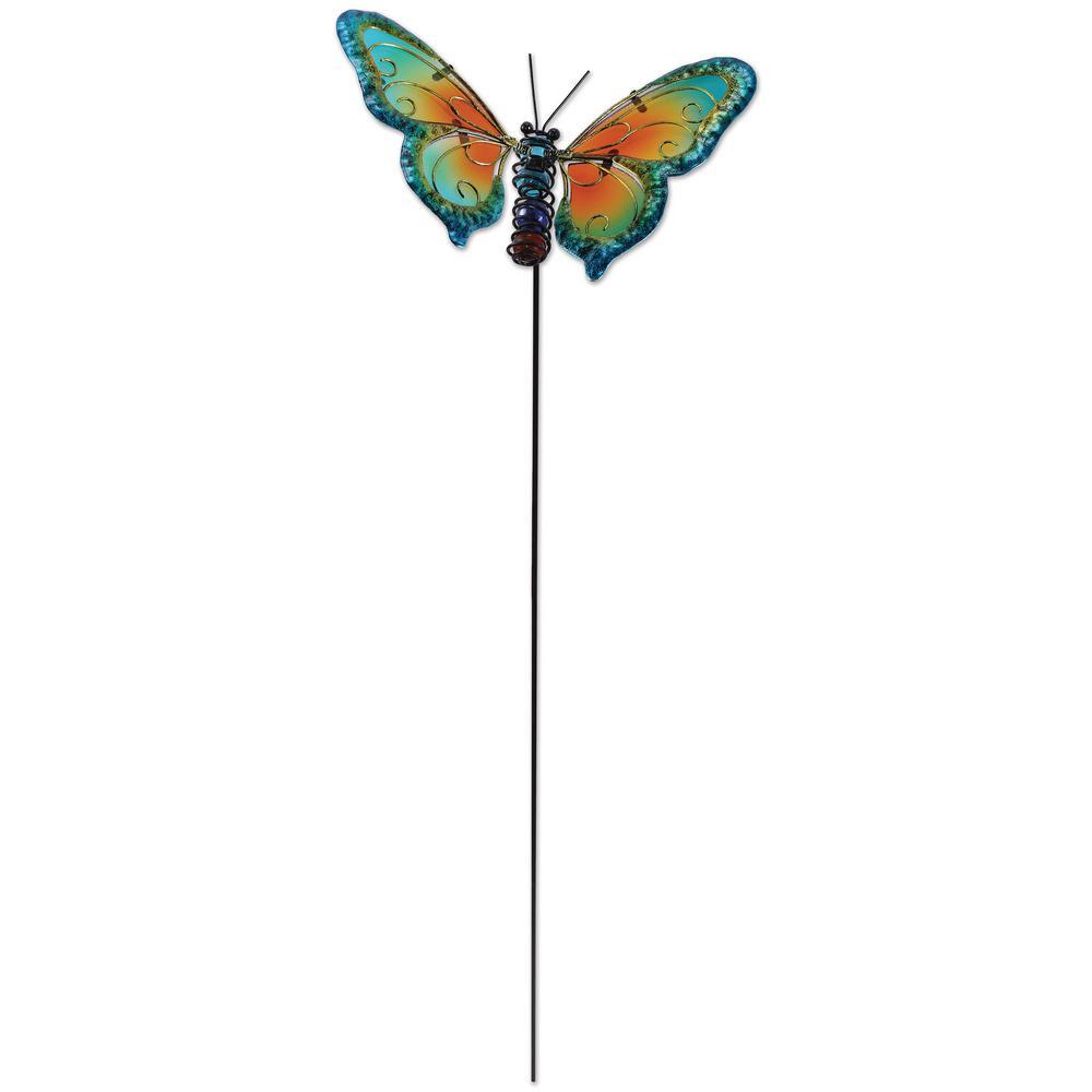 25 in. Blue Butterfly Plant Pick