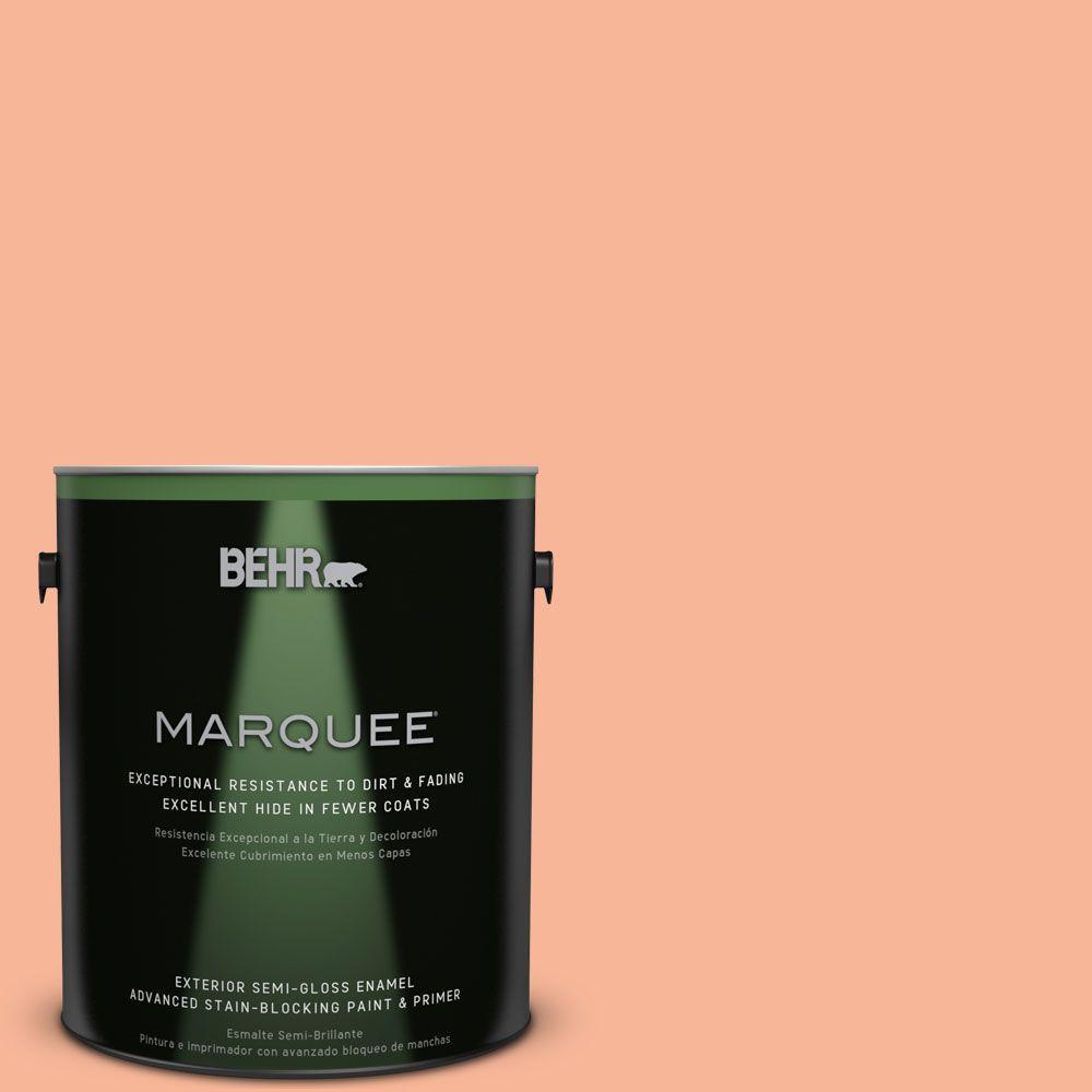 1-gal. #P190-3 Melon Sorbet Semi-Gloss Enamel Exterior Paint