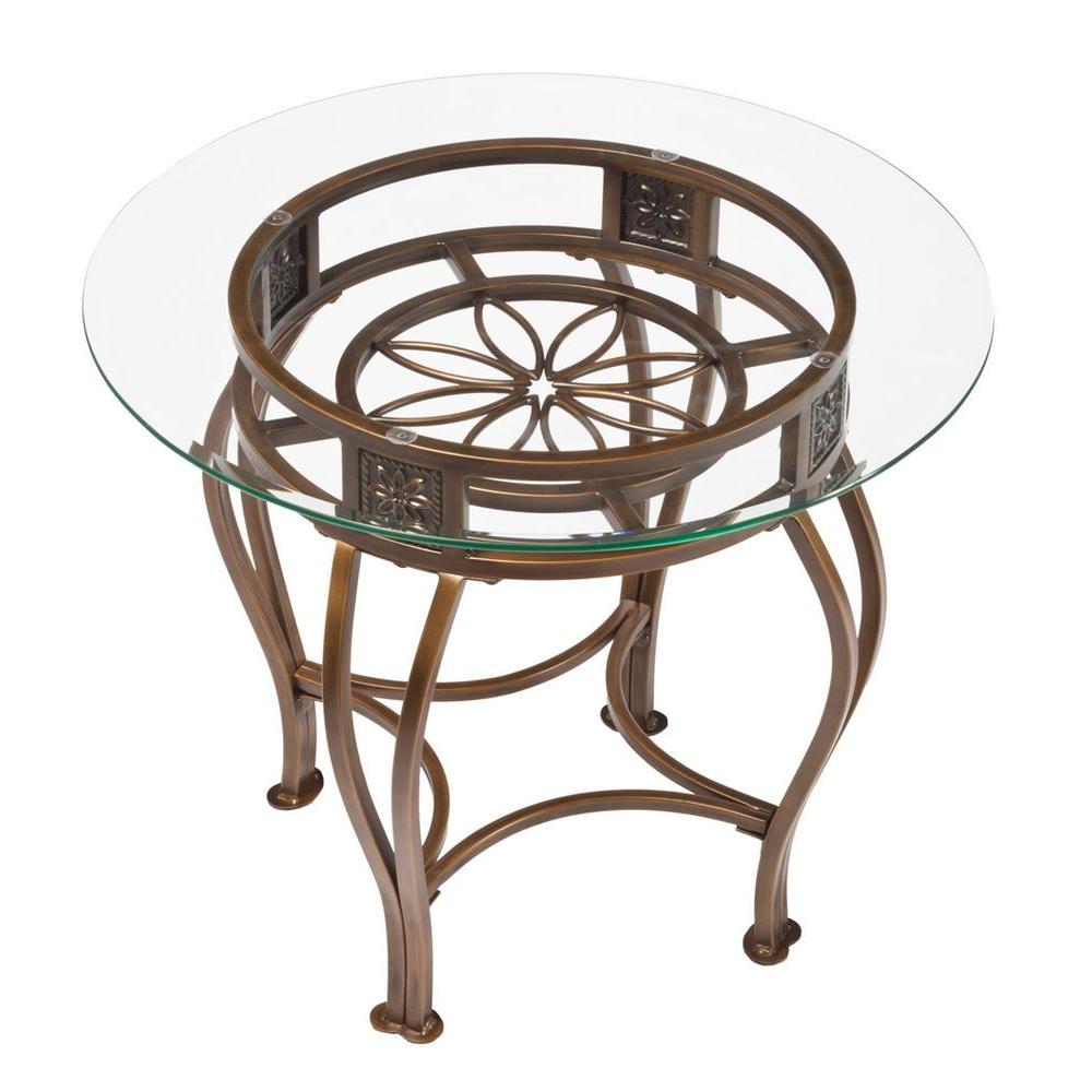 Scottsdale Brown Rust End Table