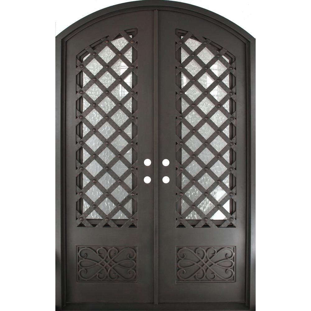 Iron Doors Unlimited 62 in. x 97.5 in. Luce Lattice Classic 3/4 ...