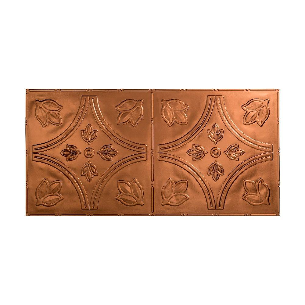 Fasade Traditional 5 - 2 ft. x 4 ft. Glue-up Ceiling Tile in Oil Rubbed Bronze