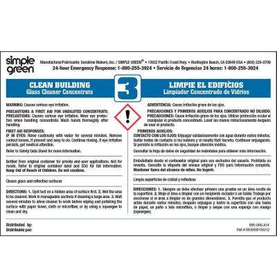 Clean Building Glass Cleaner Secondary Label (10 Pack)