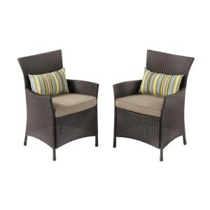 Tacana Stationary Wicker Outdoor Dining Chair (2 Pack)