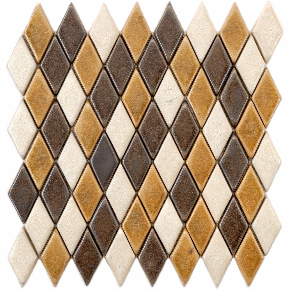 Merola Tile Cobble Argyle Tahoma 12 in. x 12 in. x 12 mm ...