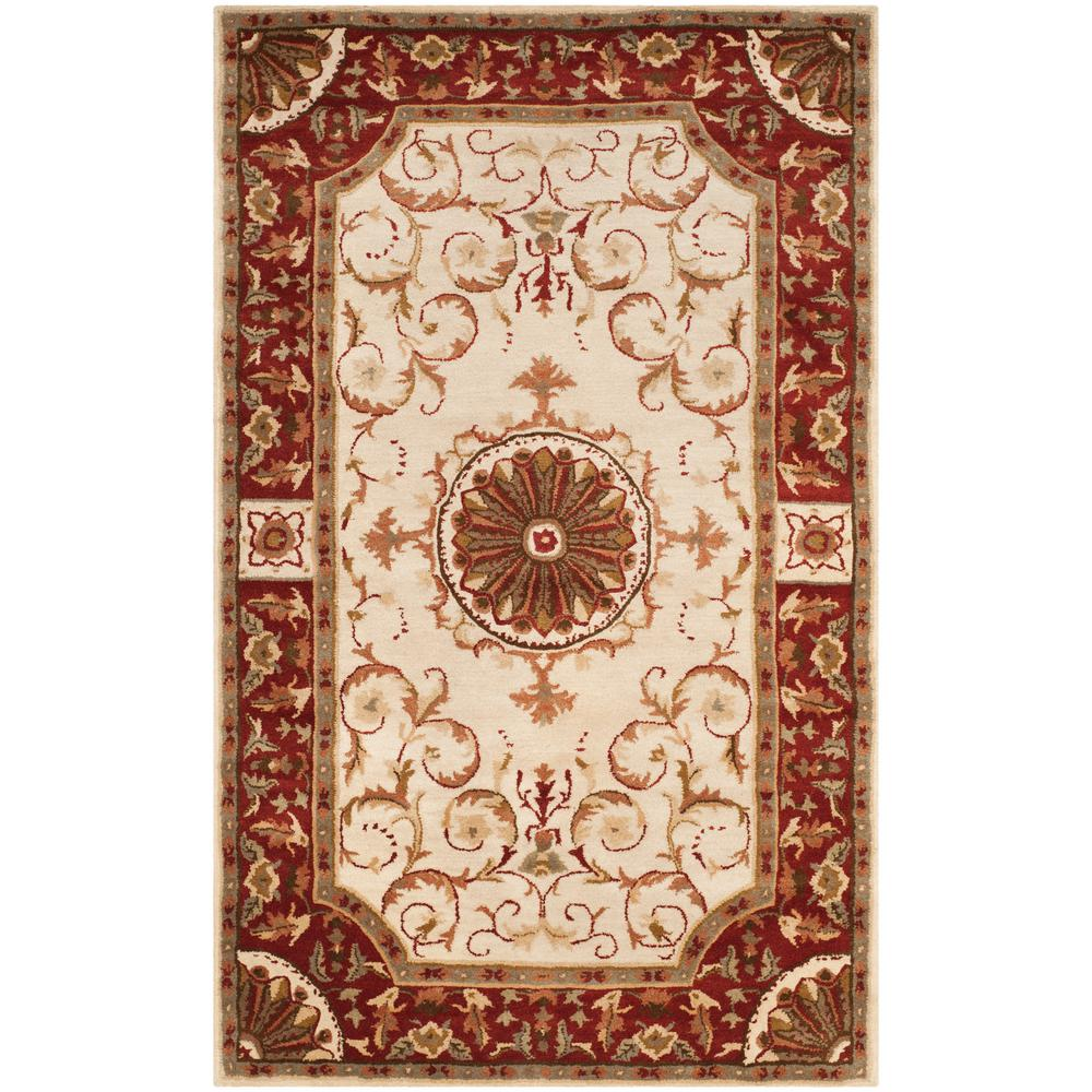 Empire Ivory/Red 4 ft. x 6 ft. Area Rug