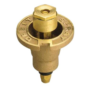 1/2 in. Pattern Brass Pop-Up Head with Brass Nozzle