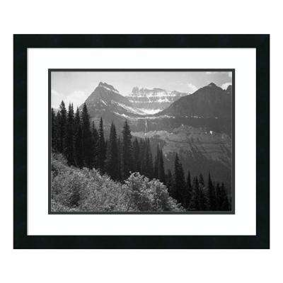 """""""Trees, Bushes & Mountains, Glacier National Park, MT - National Parks & Monuments, 1941"""" by Ansel Adams Framed Wall Art"""