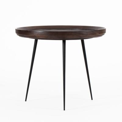 Girona Large Caf Color Mango Wood Round Side Table