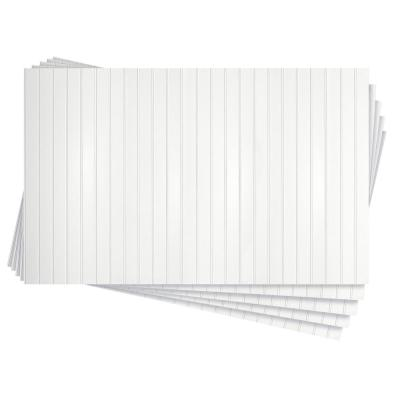 3/16 in. x 32 in. x 48 in. Paintable White Bead Hardboard Wainscoting Panel (5-Pack) 53.33 sq. ft.