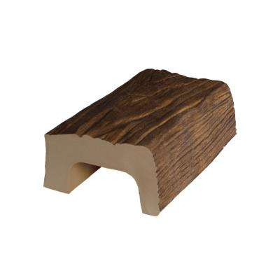 4-3/8 in. x 2-1/4 in. x 0.5 ft. L Medium Oak Modern Faux Wood Beam Sample