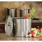 ExcelSteel 6-Piece 8 Qt., 12 Qt., and 16 Qt. Stainless Steel Stock Pot with Lids