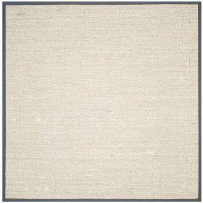 Natural Fiber Marble/Grey 7 ft. x 7 ft. Square Indoor Area Rug
