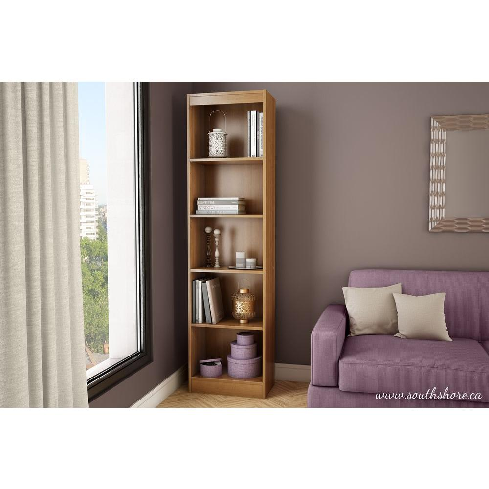 South Shore Axess 5 Shelf Bookcase In Morgan Cherry