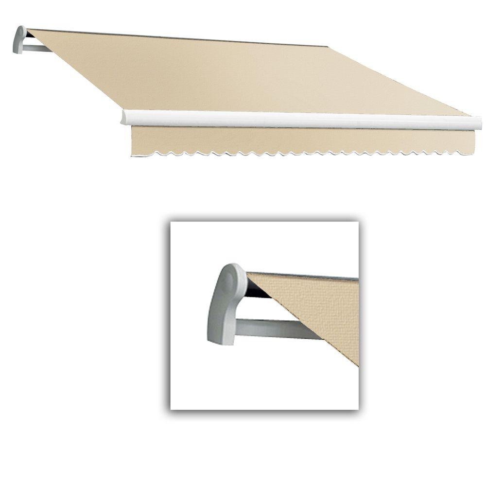 AWNTECH 8 ft. LX-Maui Right Motor with Remote Retractable Acrylic Awning (84 in. Projection) in Linen