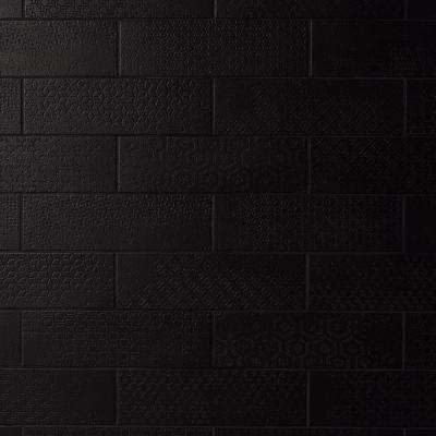 Harper 4 in. x 12 in. Black Matte Porcelain Subway Floor and Wall Tile (30 pieces / 8.72 sq. ft. / box)