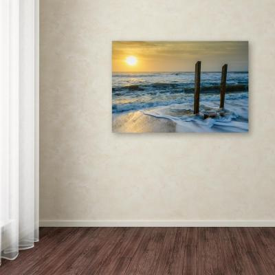 """30 in. x 47 in. """"Kissed by the Sea"""" by PIPA Fine Art Printed Canvas Wall Art"""