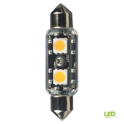 12-Volt LED Clear T3 Festoon Lamp (2700K)