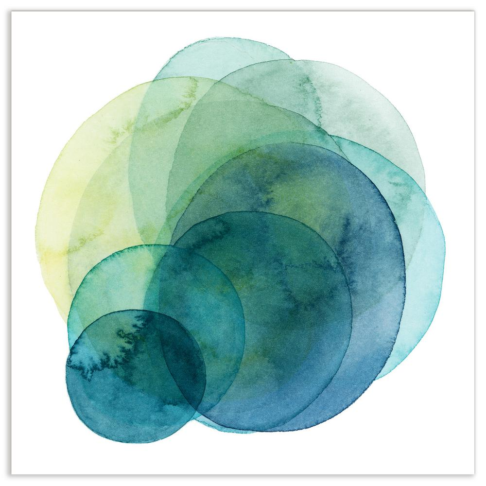 """""""Evolving Planets IV"""" by EAD Art Coop Frameless Free-Floating Tempered Art Glass Wall Art"""
