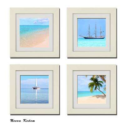 "Four 10 in. x 10 in. ""Caribbean Beauty"" by Neeva Kedem Framed Printed Wall Art"