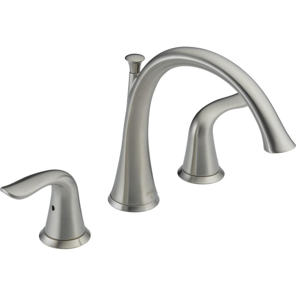 Delta Lahara 2 Handle Deck Mount Roman Tub Faucet Trim Kit Only In