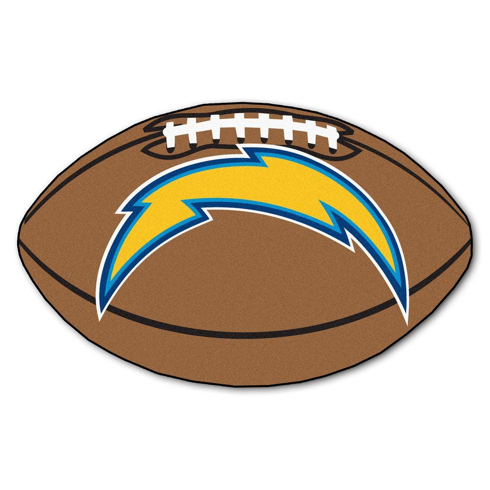 San Diego Chargers Football: FANMATS NFL San Diego Chargers Brown 1 Ft. 10 In. X 2 Ft