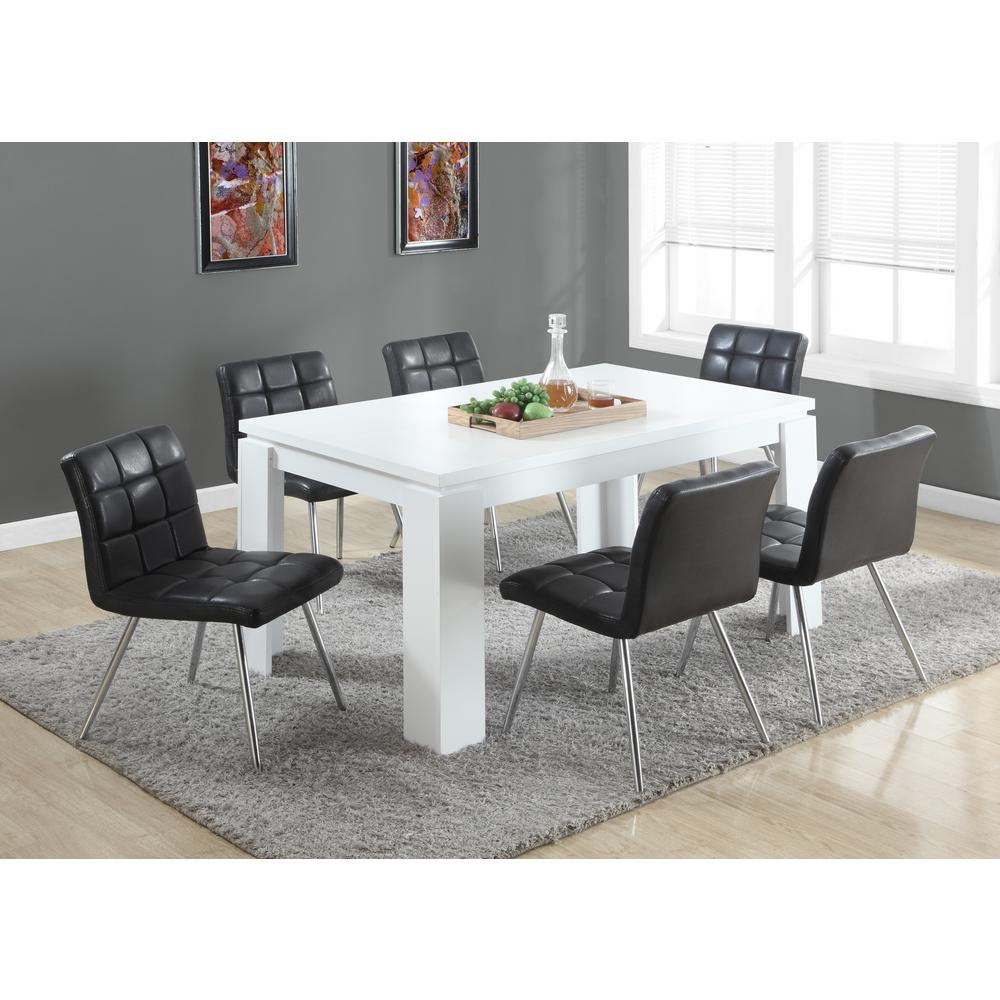 Exceptionnel Monarch Specialties White Hollow Core Dining Table