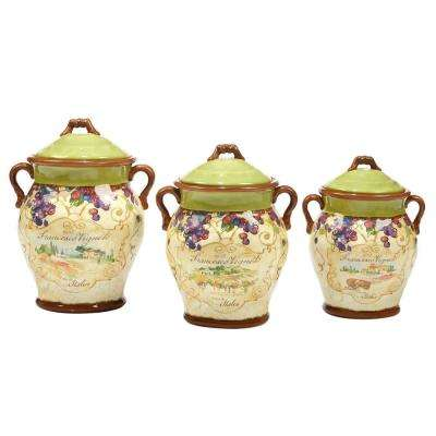 Vino 3-Piece Canister Set