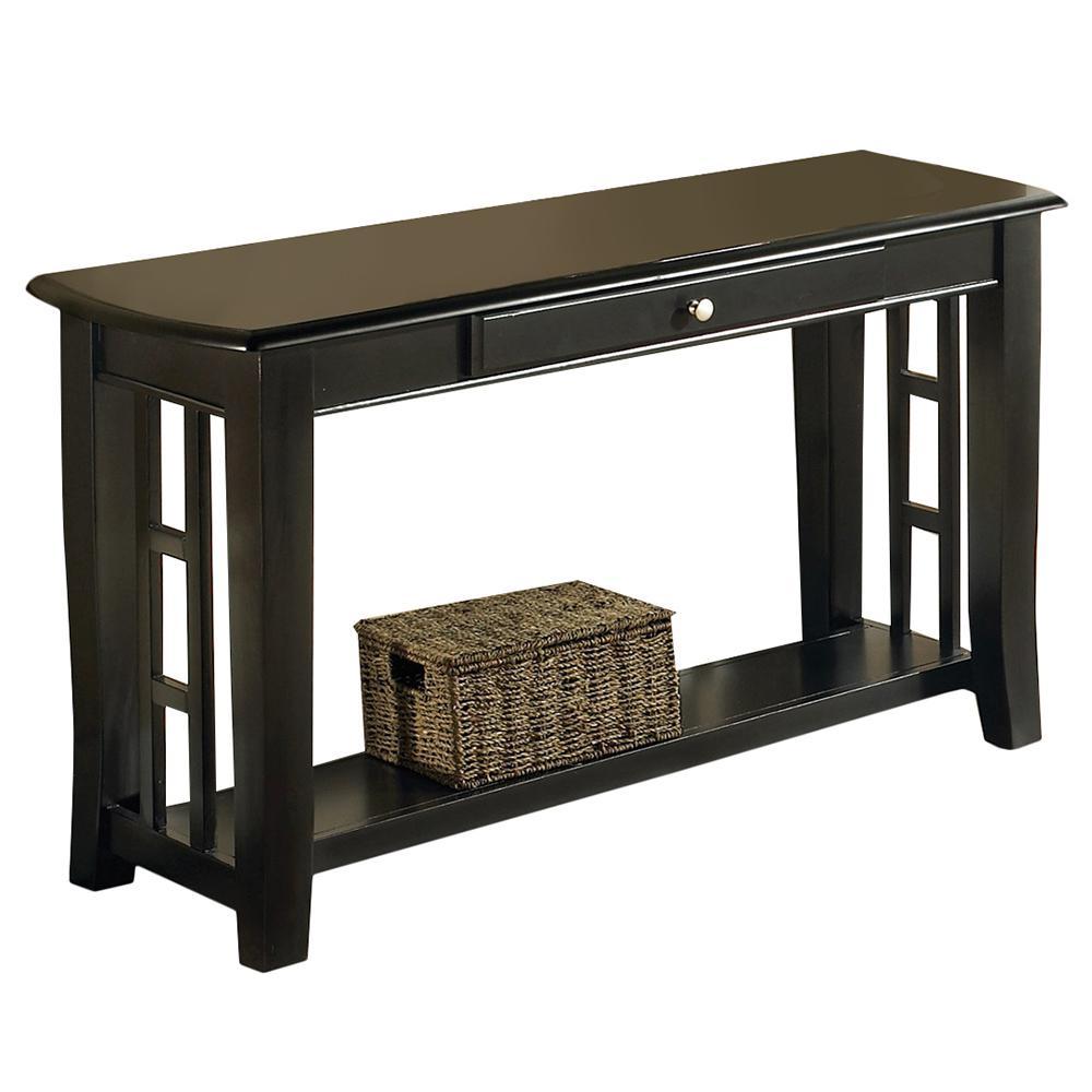 Cassidy Ebony Transitional Sofa Table