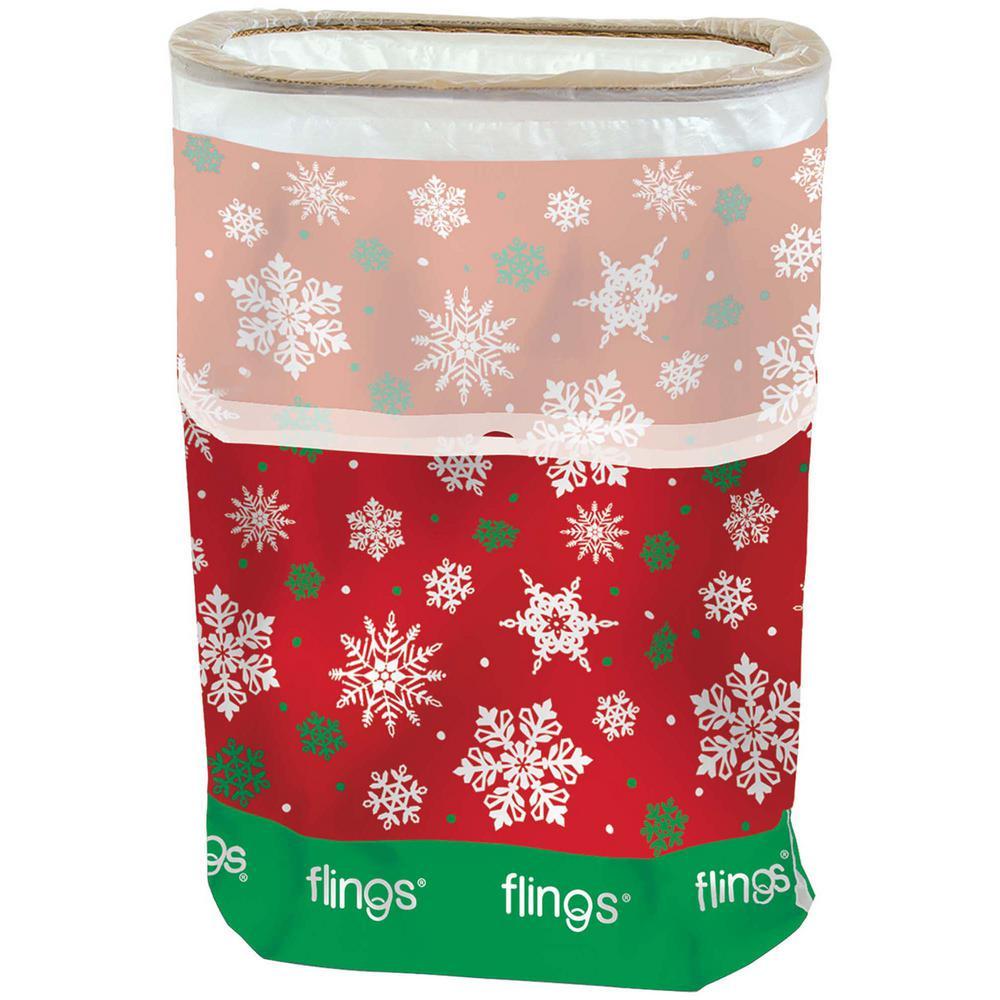 22 in. x 15 in. x 10 in. 13Gal Snowflake Fling Bin (3-Pack)