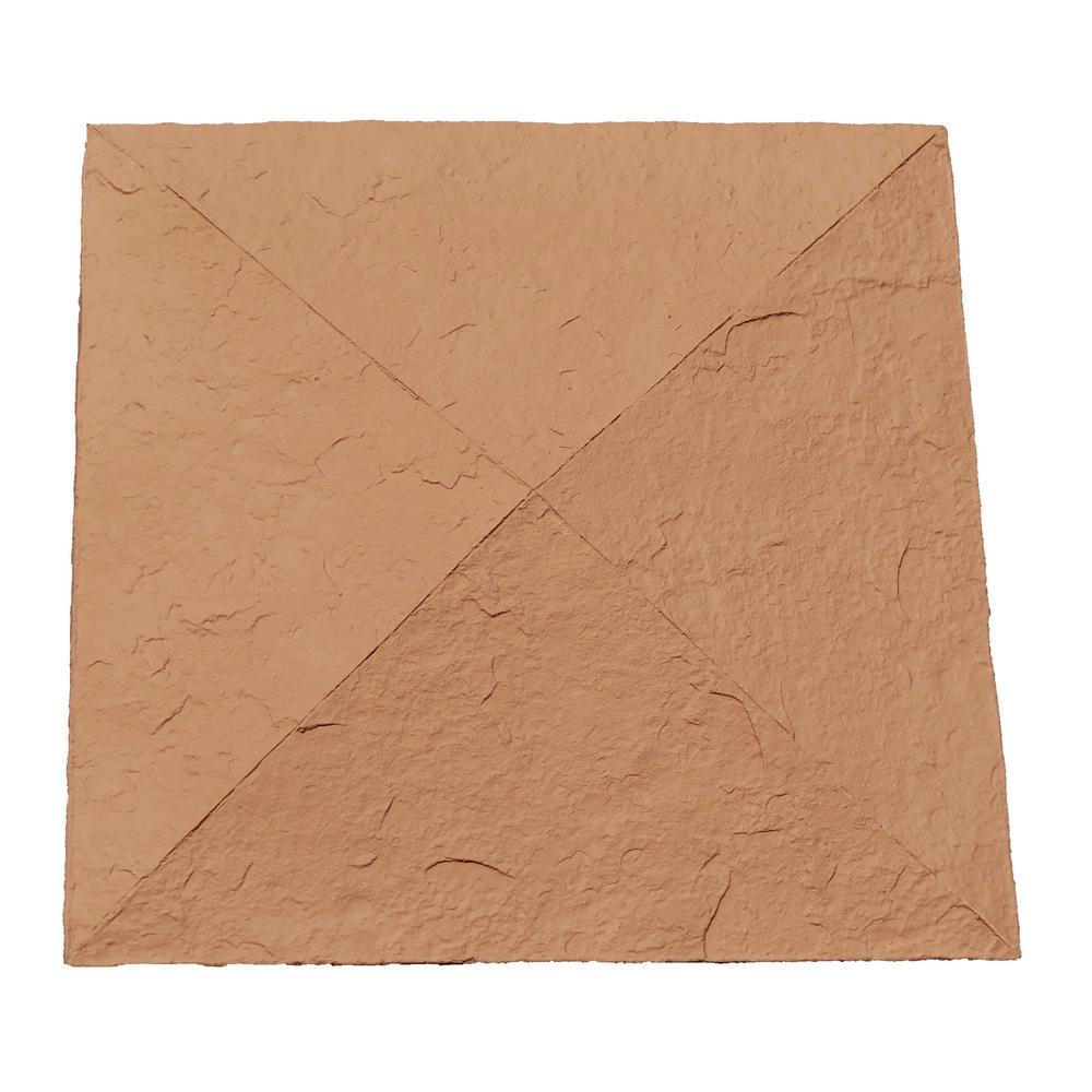Sandstone 18 in. x 18 in. Red Faux Polyurethane Stone Column Wrap Cap
