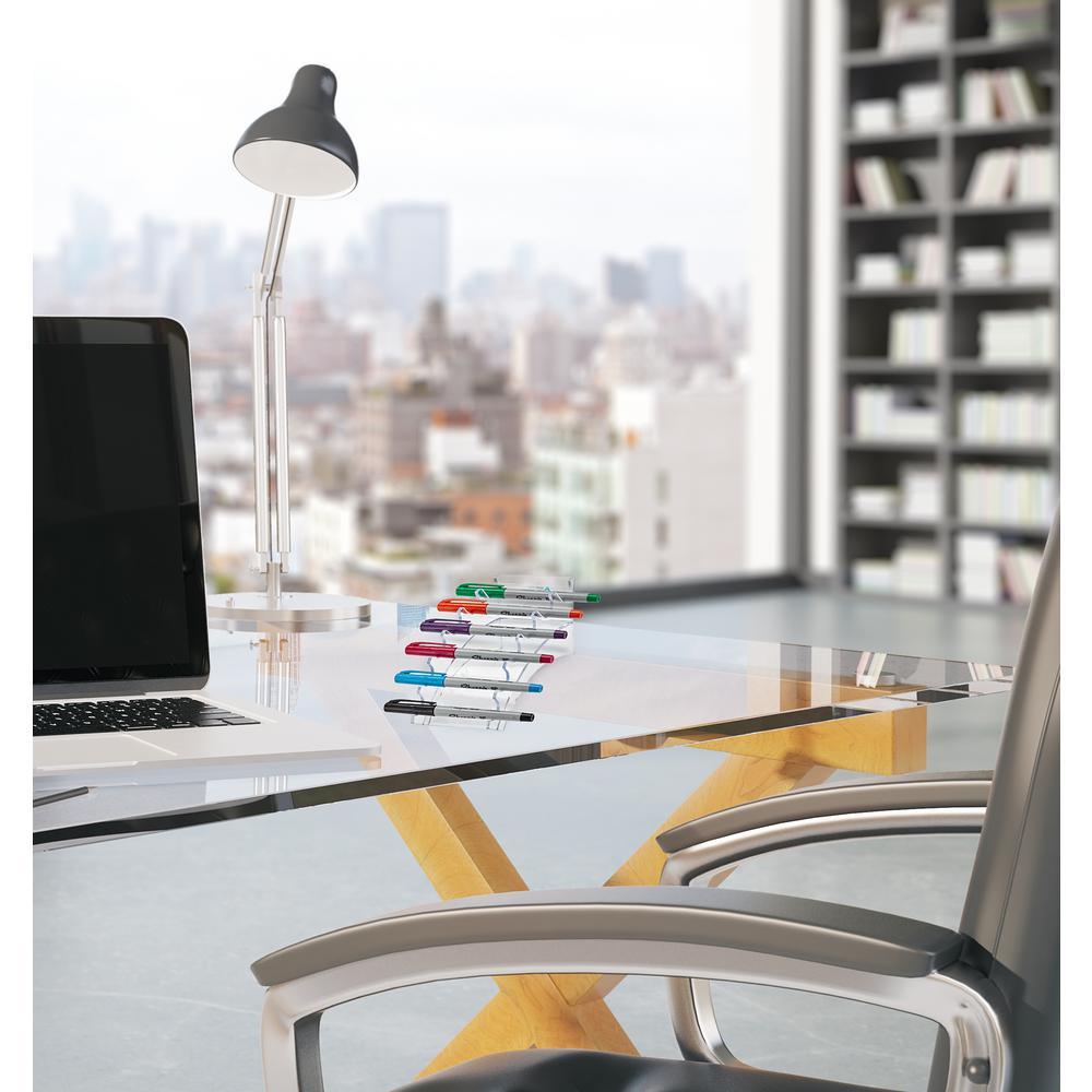 Acrylic 6 Pen Horizontal Premium Pen Display Stand (2-Pack)