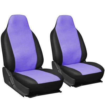 Polyurethane Seat Covers 21.5 in. L x  21 in. W x 31 in. H  Seat Cover Set in Purple and Black (2-Piece)