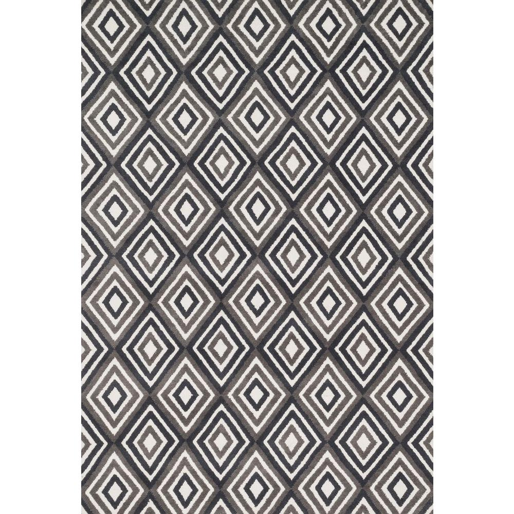 Loloi Rugs Cassidy Lifestyle Collection Grey/Charcoal 2 ft. 3 in. x 3 ft. 9 in. Area Rug